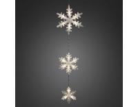 Konstsmide LED Schneeflockenvorhang 3er Set