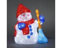 Konstsmide LED Schneemann mit Besen Acryl