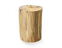 STT LED Hocker aus Holz 50cm Finn Candle