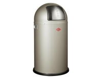 Wesco Abfalleimer Pushboy 50l Champagner