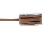 Glorex Lederband Velour 3 mm flach