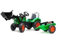 Traktor mit Schaufel und Anhänger