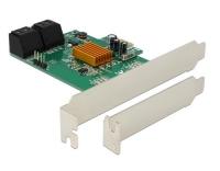 Delock 4x SATA PCI-Ex1 Karte