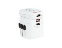 SKROSS World-Reiseadapter, 3x USB