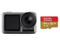 DJI Osmo Action + microSDXC 64GB Kit