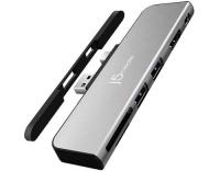 MiniDP+USB-A Dock Surface Pro 4/5/6 Silver
