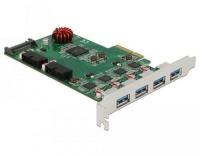 Delock PCI Express Karte 4x USB Typ-A