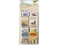 Folia Sticker Briefmarken Vintage