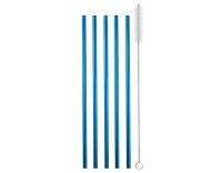 Strawganic Stahlstrohhalme Gastro Set blau