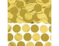 Amscan Konfetti Scheiben Gold Glitzer-Folie