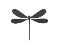 Studio Macura VILA Magnet Libelle, Schwarz