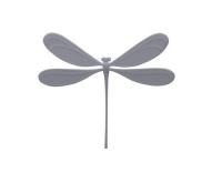 Studio Macura VILA Magnet Libelle, Grau