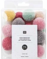 Rico Design Pompon Set Pastell Mix