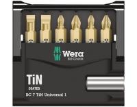 Wera Bit-Check 7 TiN Universal 1 SB